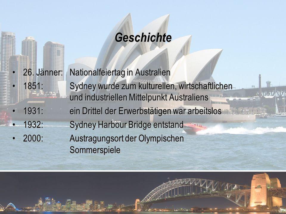 Geschichte 26. Jänner: Nationalfeiertag in Australien