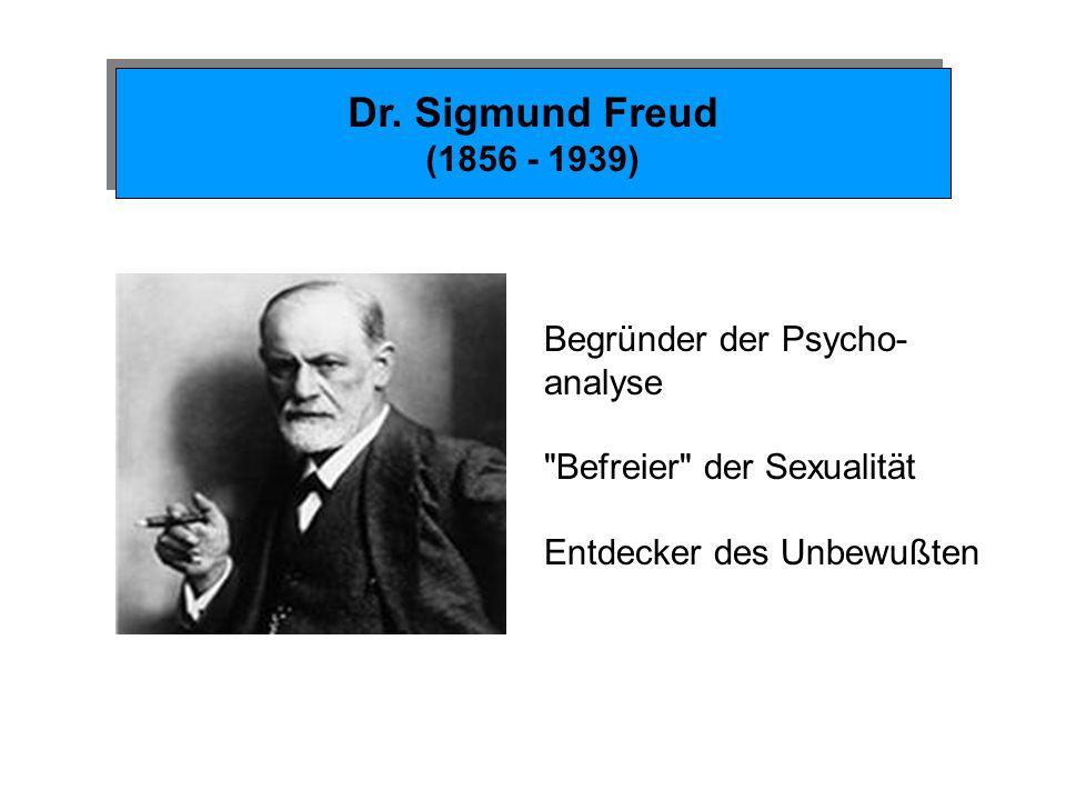 Dr. Sigmund Freud (1856 - 1939) Begründer der Psycho- analyse