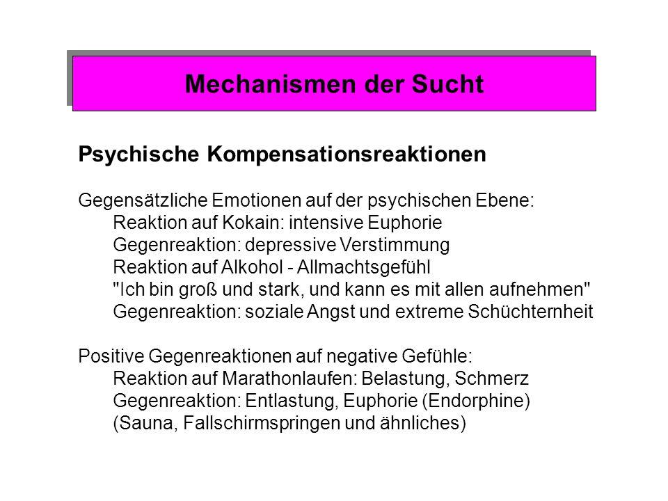 Mechanismen der Sucht Psychische Kompensationsreaktionen