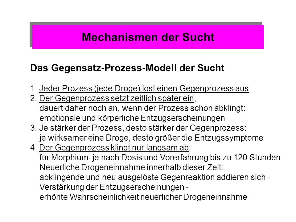 Mechanismen der Sucht Das Gegensatz-Prozess-Modell der Sucht