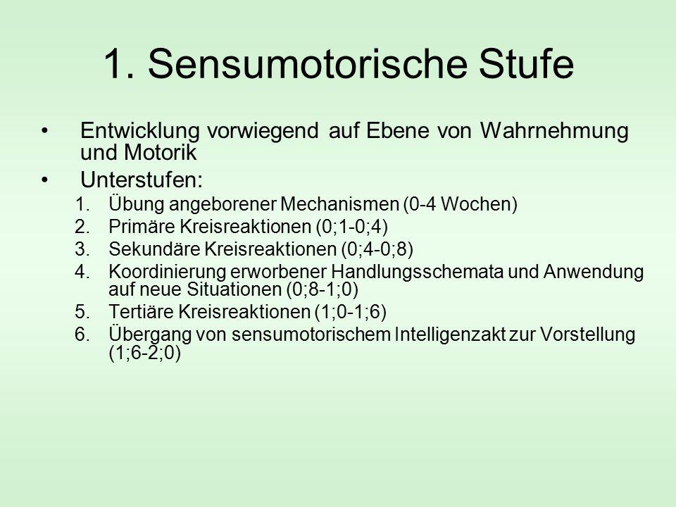 1. Sensumotorische Stufe