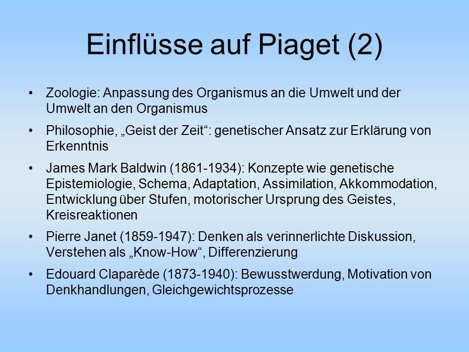 Einflüsse auf Piaget (2)