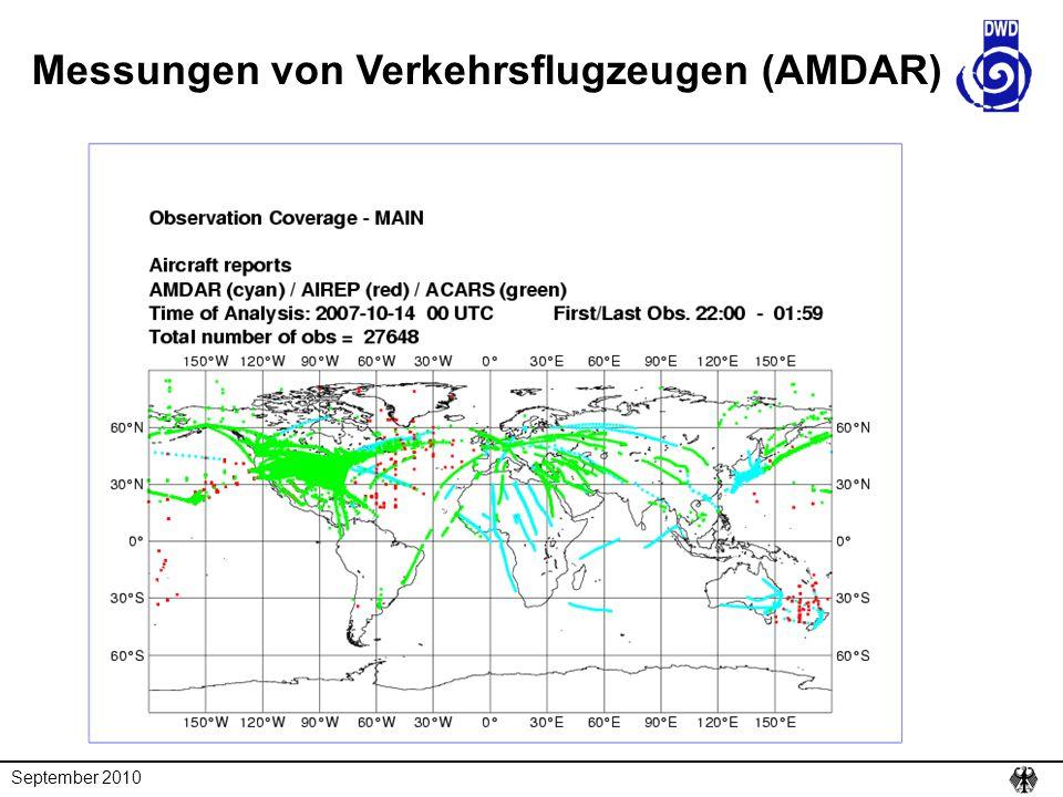 Messungen von Verkehrsflugzeugen (AMDAR)