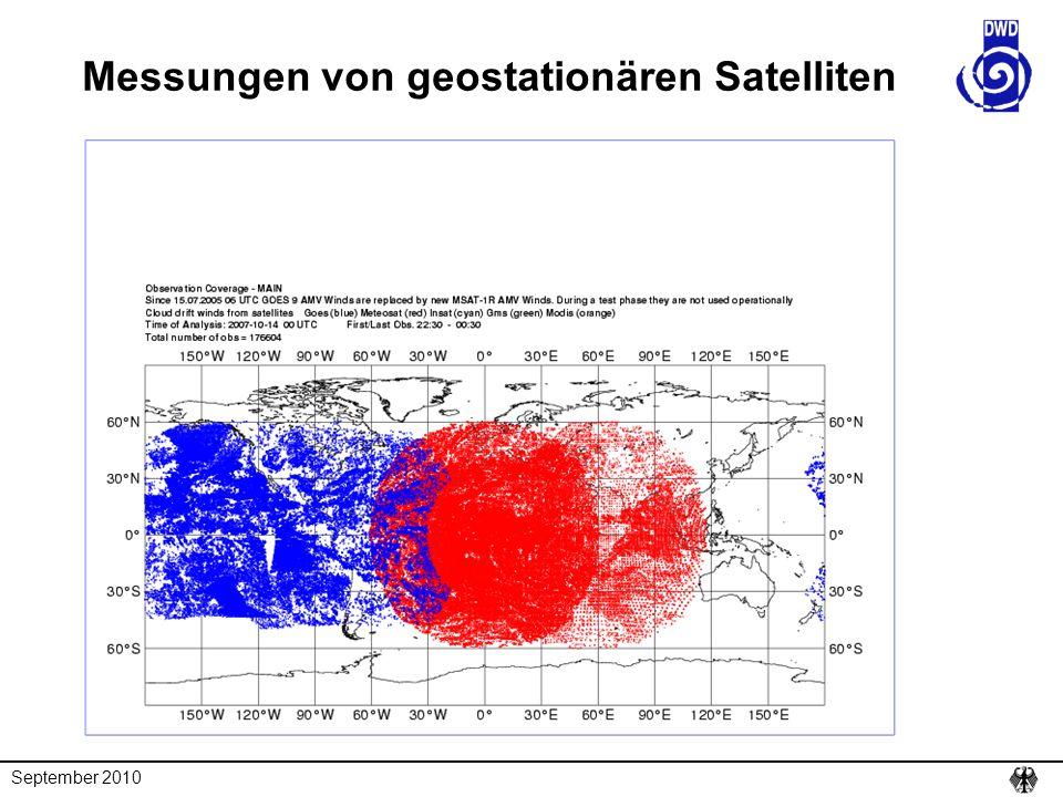 Messungen von geostationären Satelliten