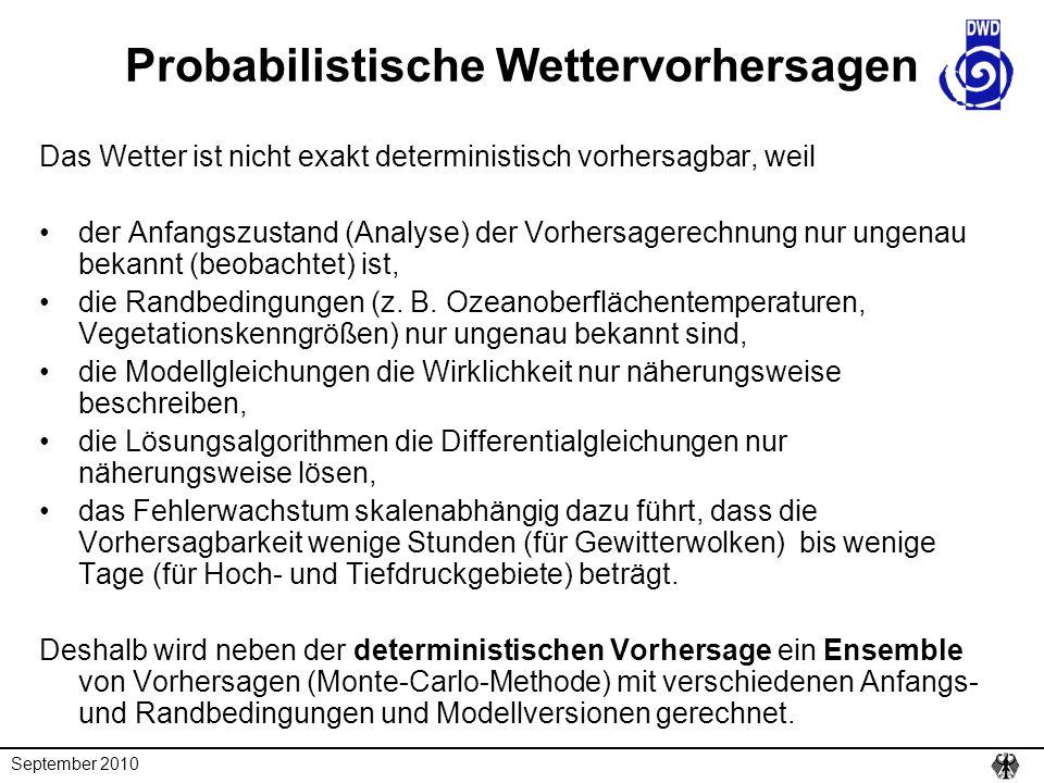 Probabilistische Wettervorhersagen