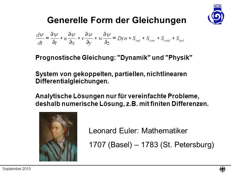 Generelle Form der Gleichungen