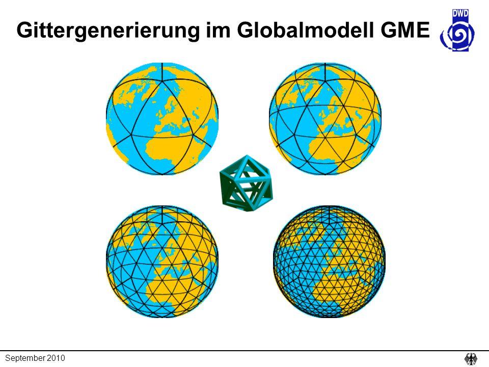 Gittergenerierung im Globalmodell GME