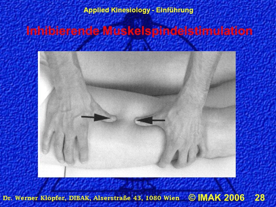Inhibierende Muskelspindelstimulation