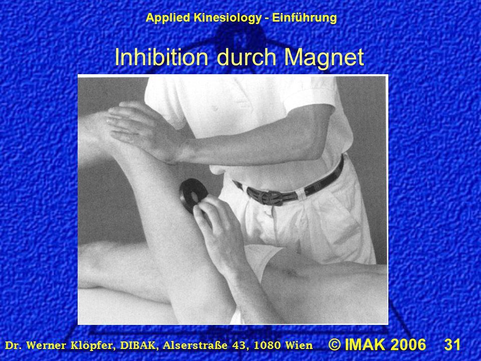 Inhibition durch Magnet