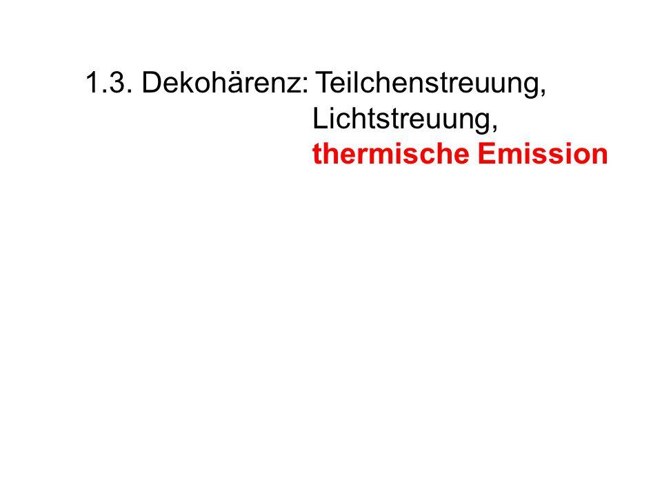 1.3. Dekohärenz: Teilchenstreuung,