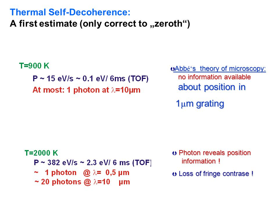 "Thermal Self-Decoherence: A first estimate (only correct to ""zeroth )"