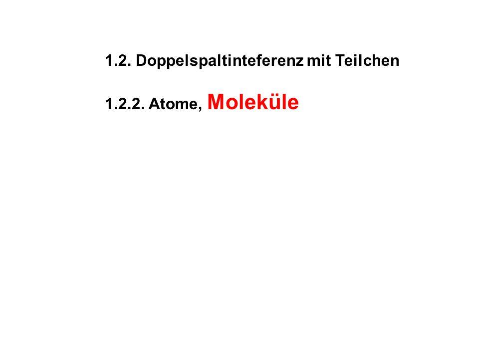 1.2. Doppelspaltinteferenz mit Teilchen
