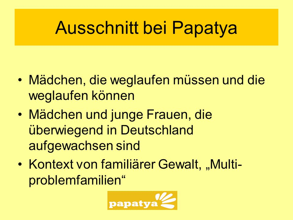 Ausschnitt bei Papatya