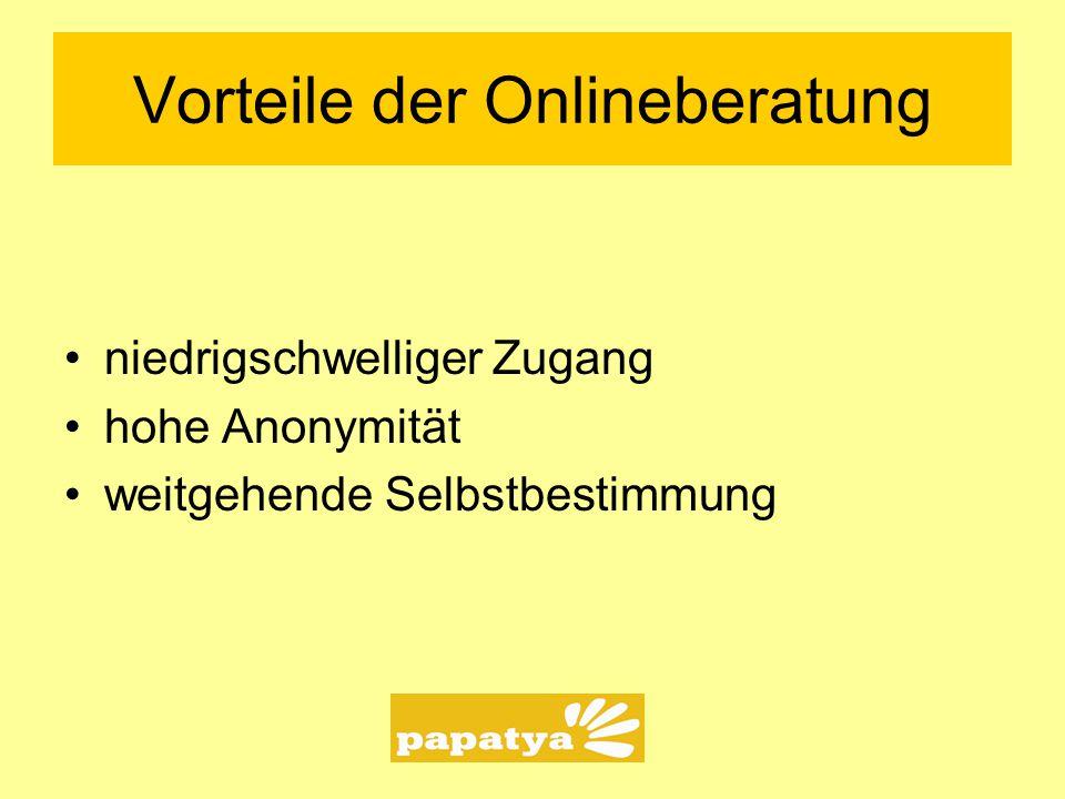 Vorteile der Onlineberatung