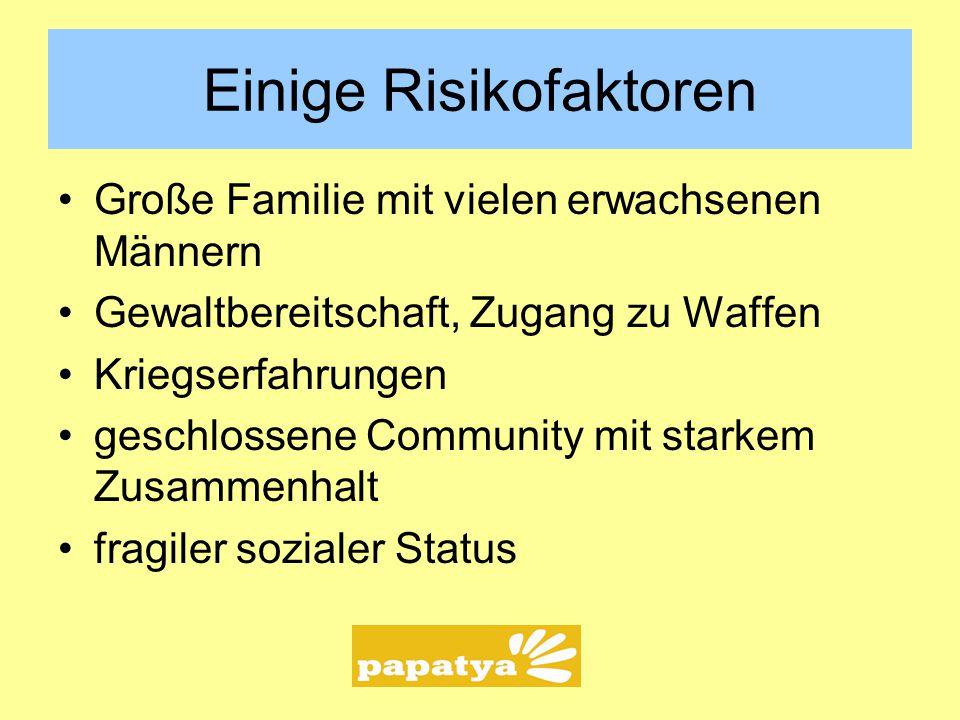 Einige Risikofaktoren