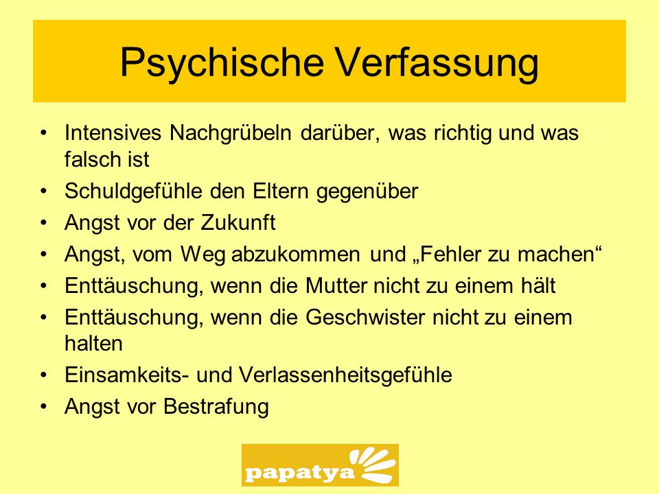 Psychische Verfassung