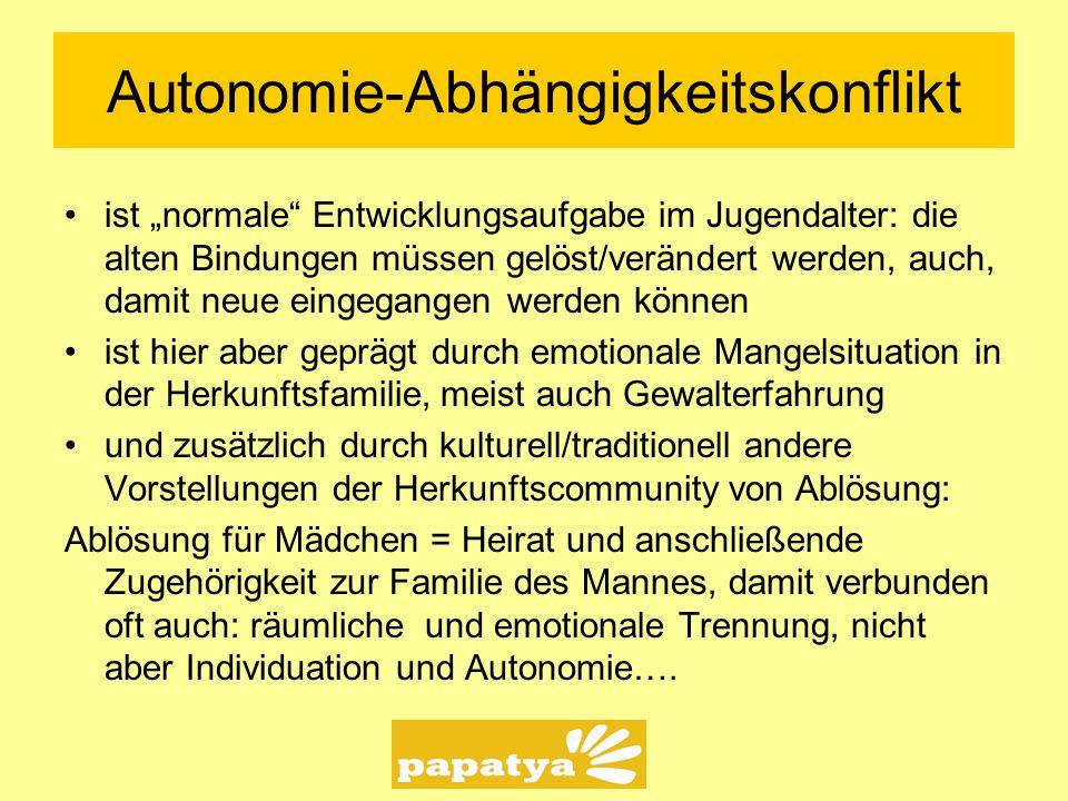 Autonomie-Abhängigkeitskonflikt