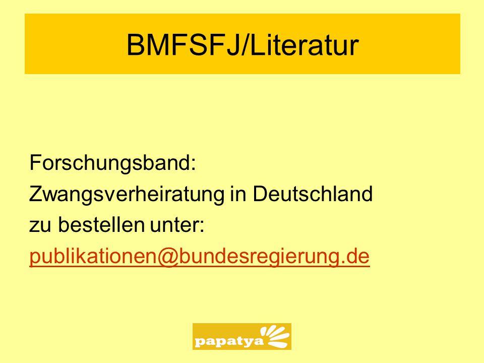 BMFSFJ/Literatur Forschungsband: Zwangsverheiratung in Deutschland