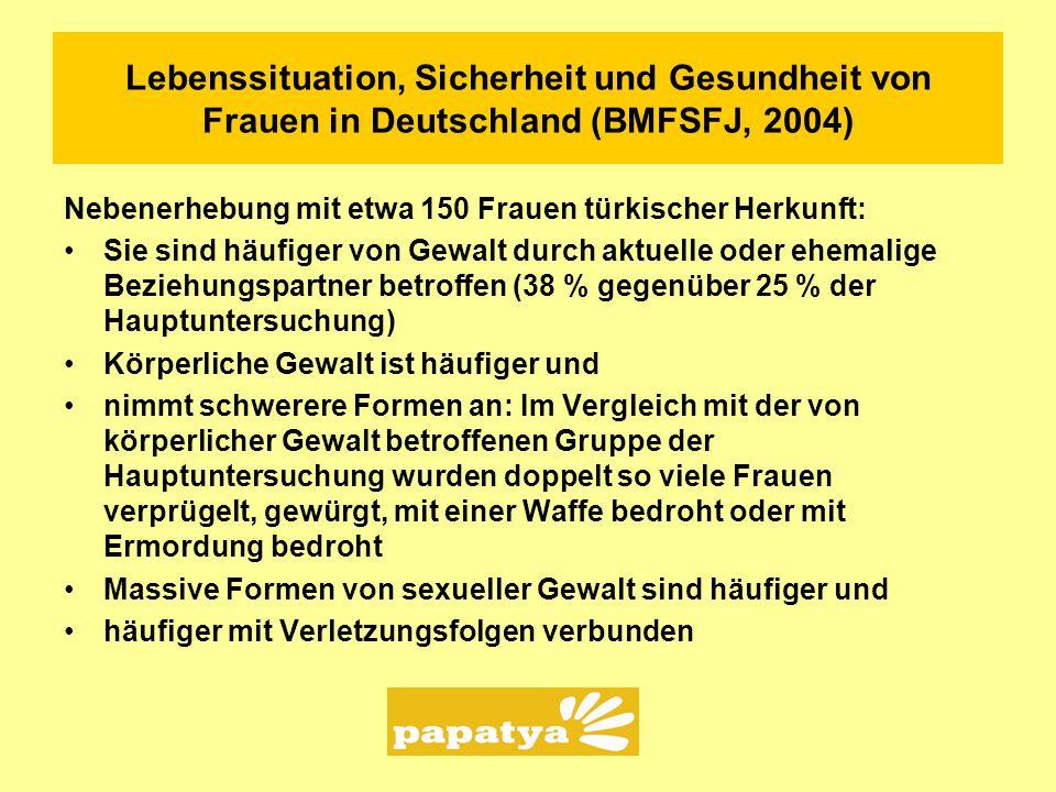 Lebenssituation, Sicherheit und Gesundheit von Frauen in Deutschland (BMFSFJ, 2004)