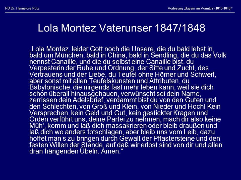 Lola Montez Vaterunser 1847/1848