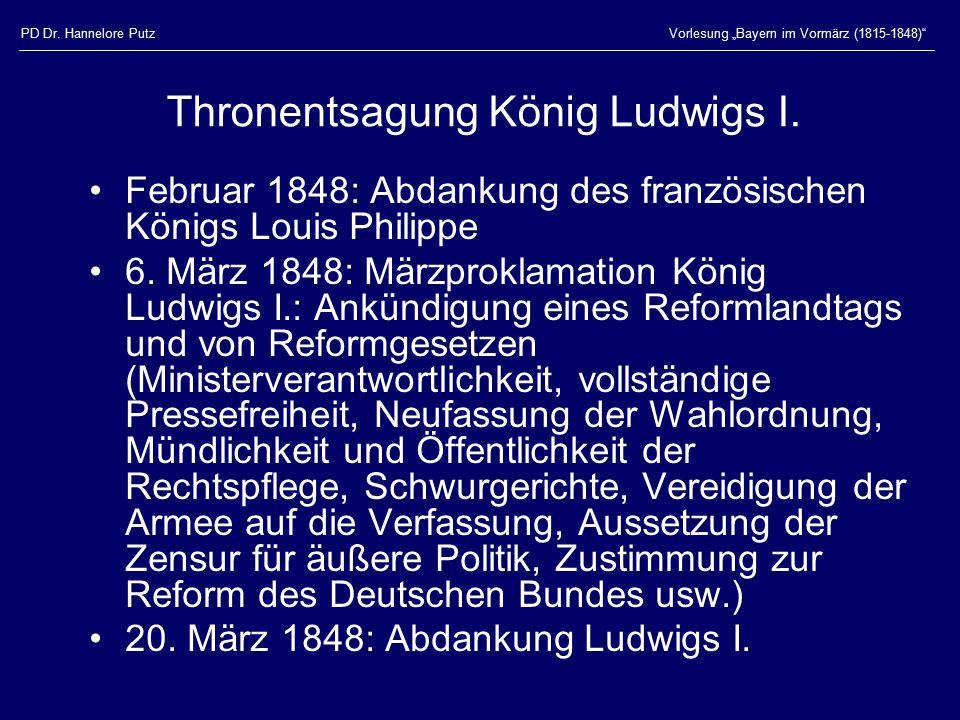 Thronentsagung König Ludwigs I.
