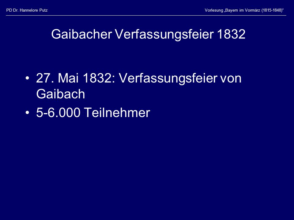 Gaibacher Verfassungsfeier 1832