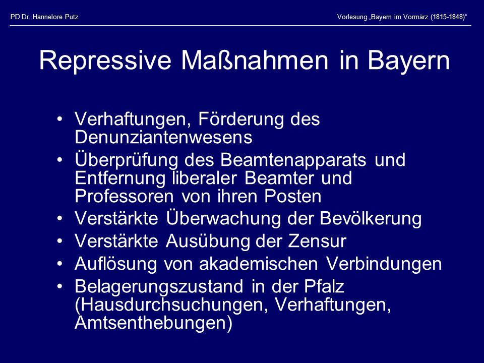 Repressive Maßnahmen in Bayern