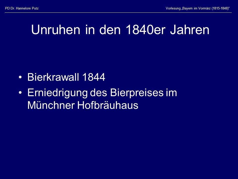 Unruhen in den 1840er Jahren