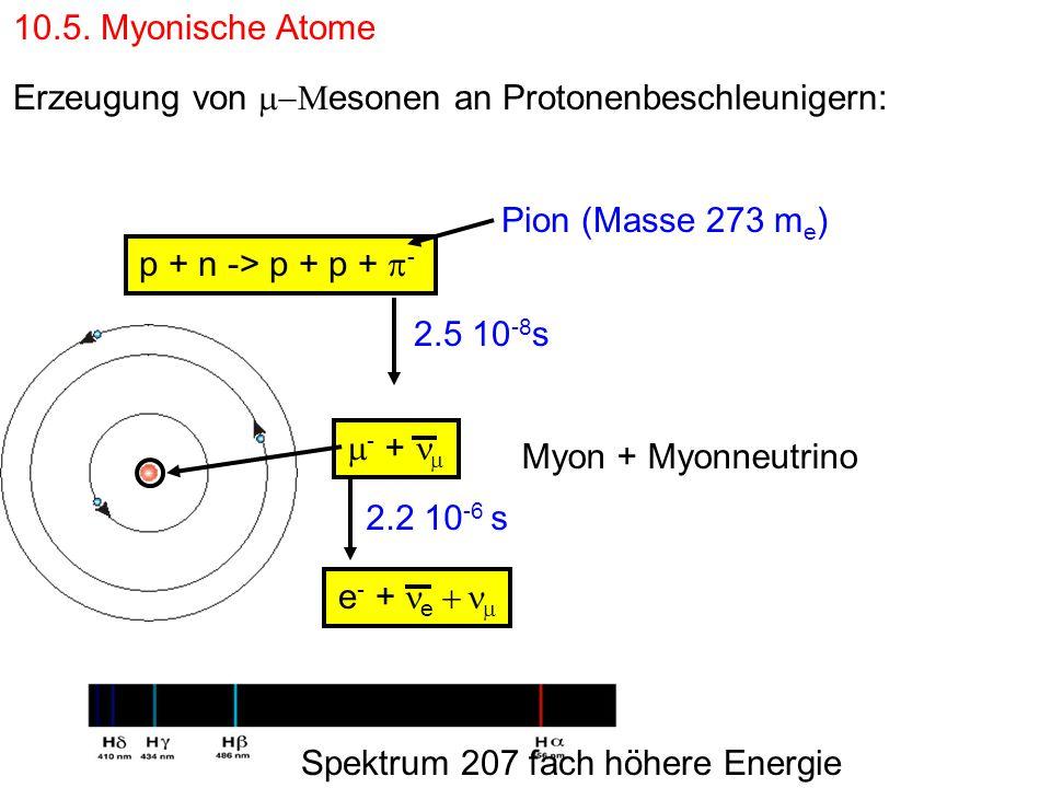 Erzeugung von m-Mesonen an Protonenbeschleunigern: