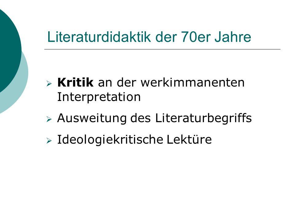 Literaturdidaktik der 70er Jahre
