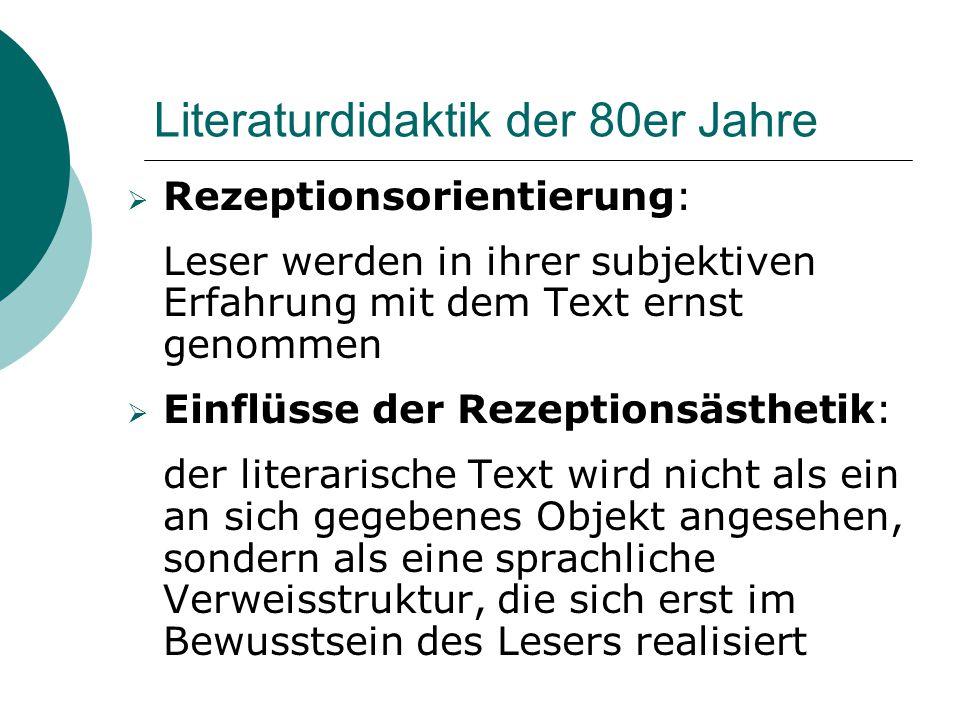 Literaturdidaktik der 80er Jahre