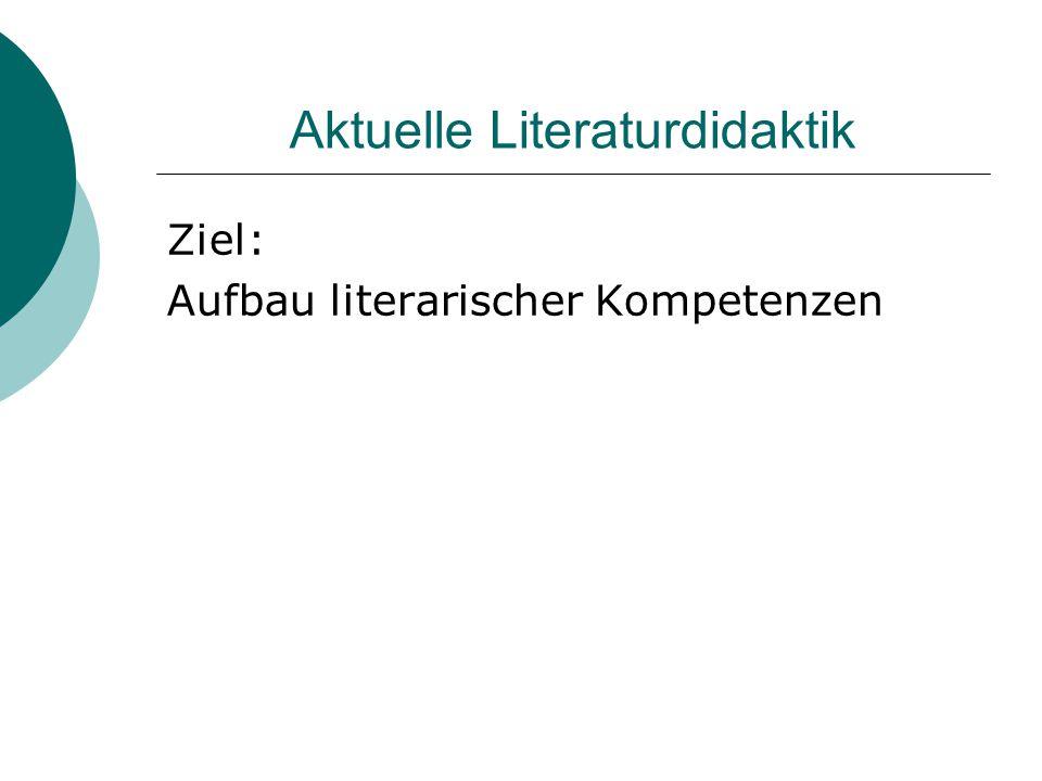 Aktuelle Literaturdidaktik