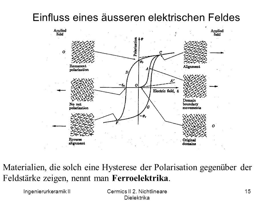Einfluss eines äusseren elektrischen Feldes