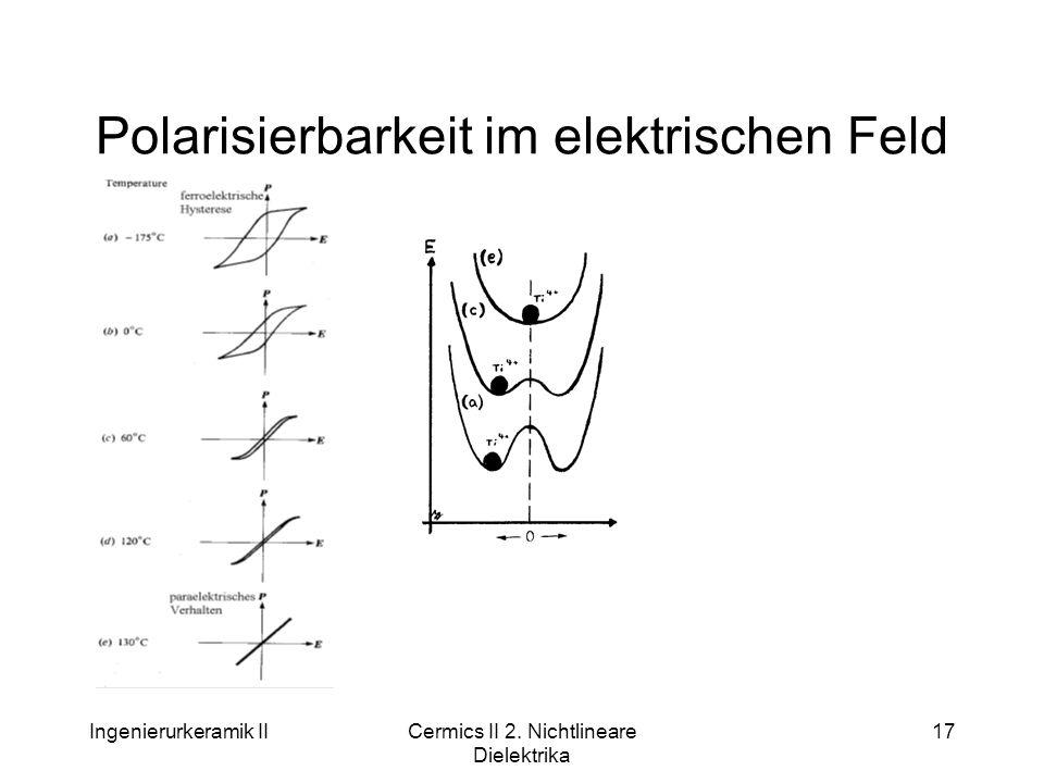 Polarisierbarkeit im elektrischen Feld