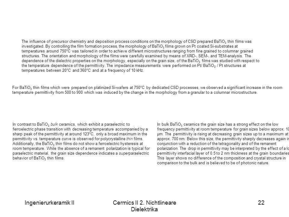 Cermics II 2. Nichtlineare Dielektrika