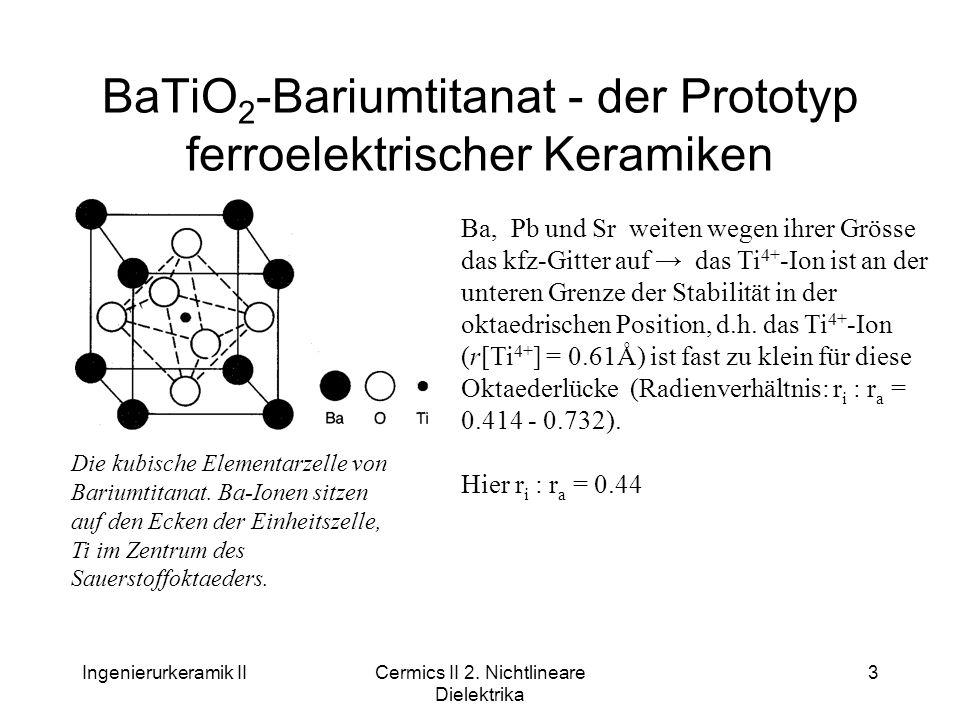 BaTiO2-Bariumtitanat - der Prototyp ferroelektrischer Keramiken