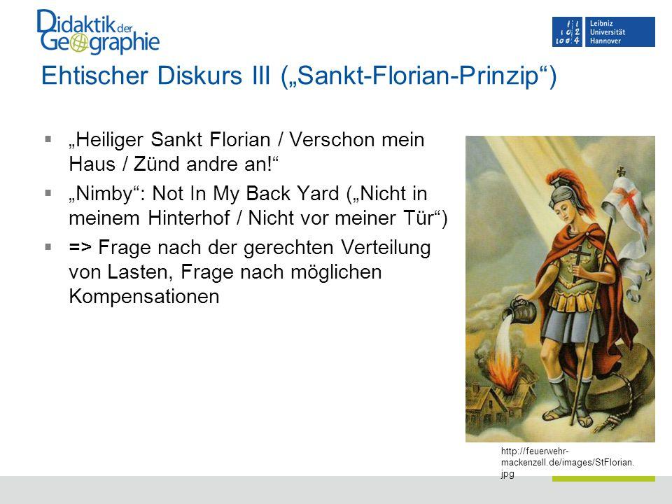 """Ehtischer Diskurs III (""""Sankt-Florian-Prinzip )"""