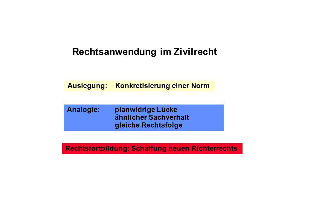 Rechtsanwendung im Zivilrecht
