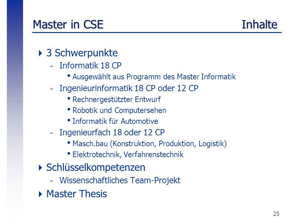 Master in CSE Inhalte 3 Schwerpunkte Schlüsselkompetenzen