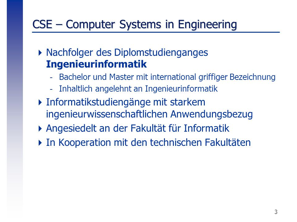 CSE – Computer Systems in Engineering