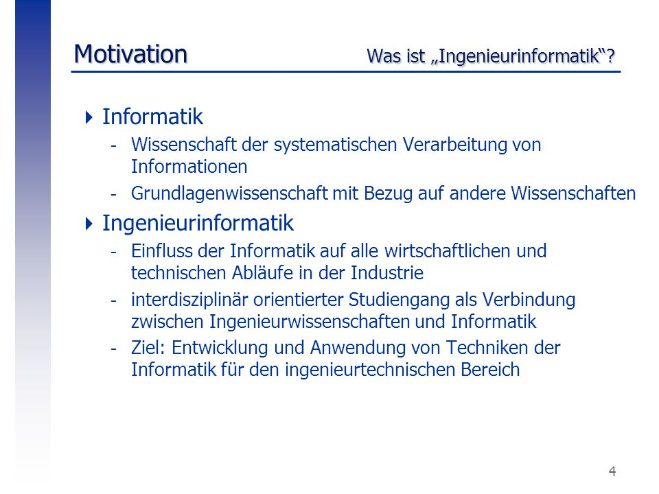 "Motivation Was ist ""Ingenieurinformatik"