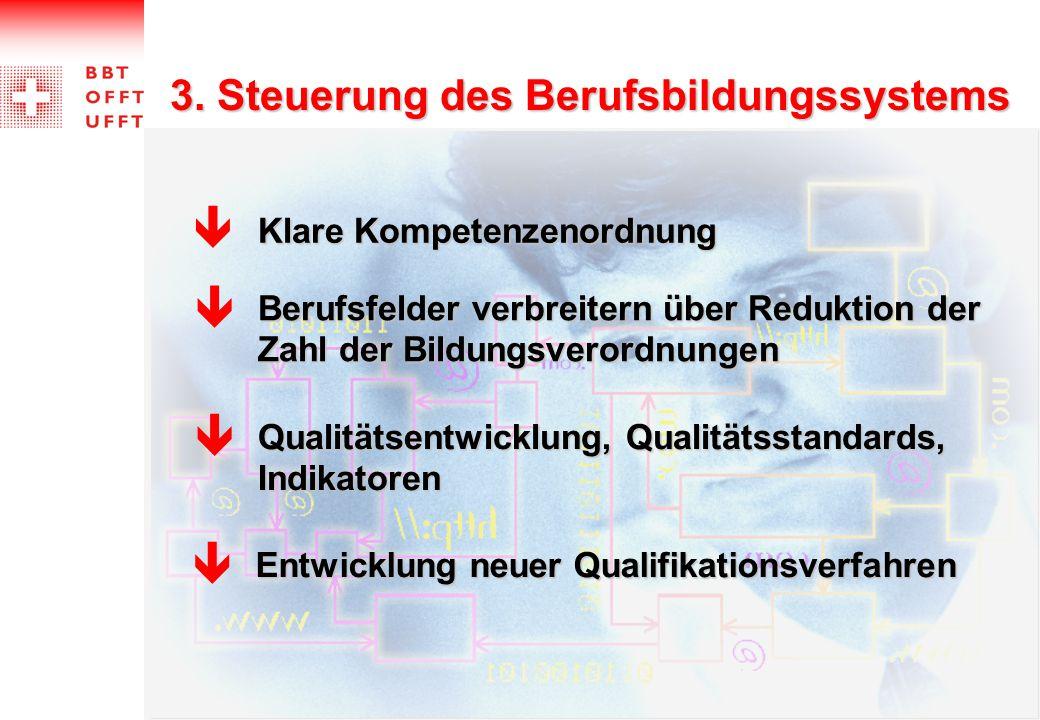     3. Steuerung des Berufsbildungssystems
