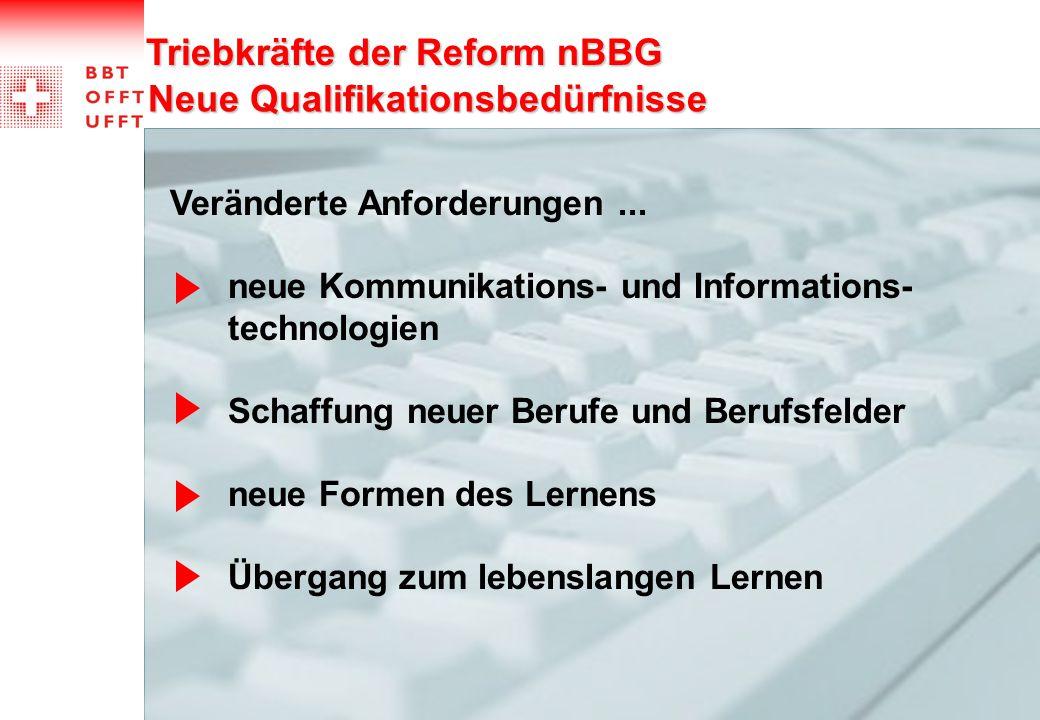 Triebkräfte der Reform nBBG Neue Qualifikationsbedürfnisse