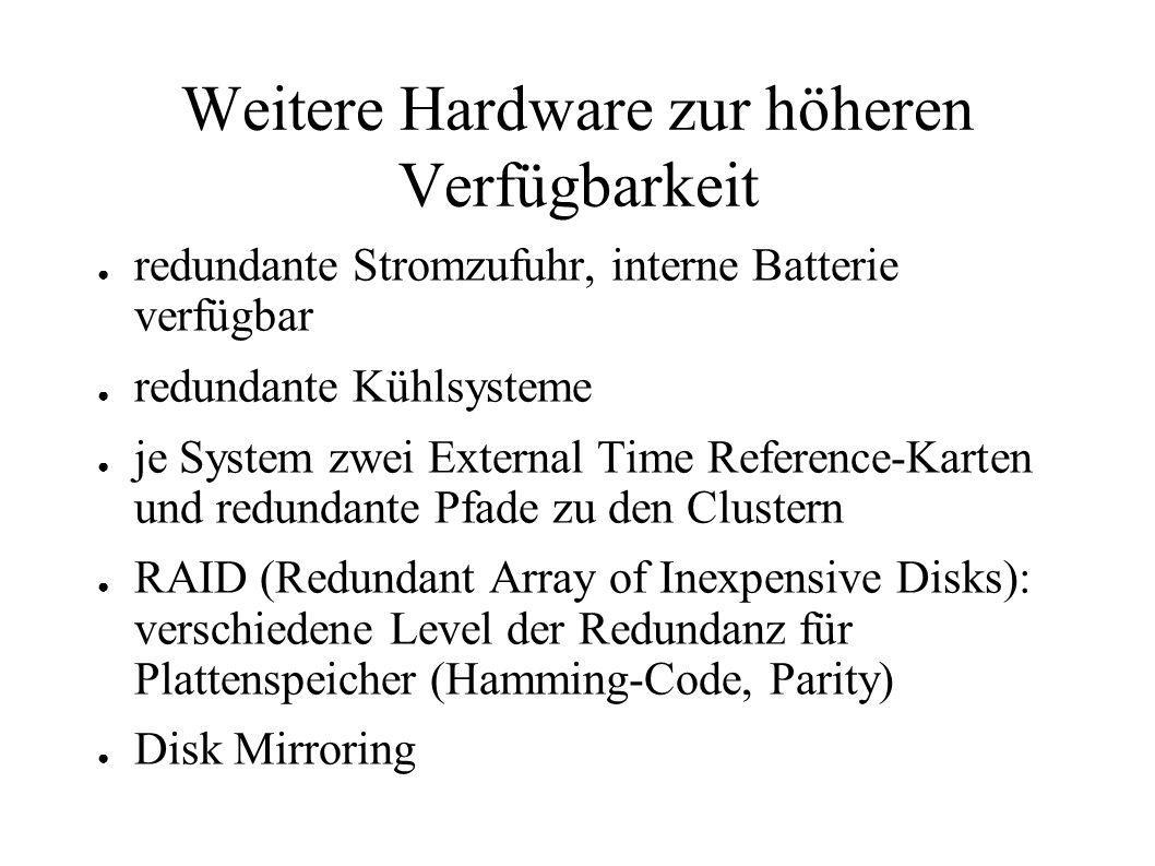 Weitere Hardware zur höheren Verfügbarkeit