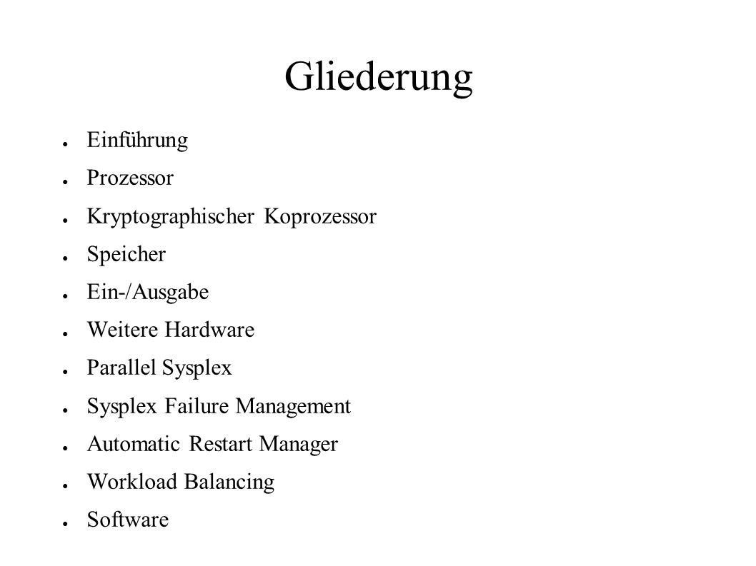Gliederung Einführung Prozessor Kryptographischer Koprozessor Speicher