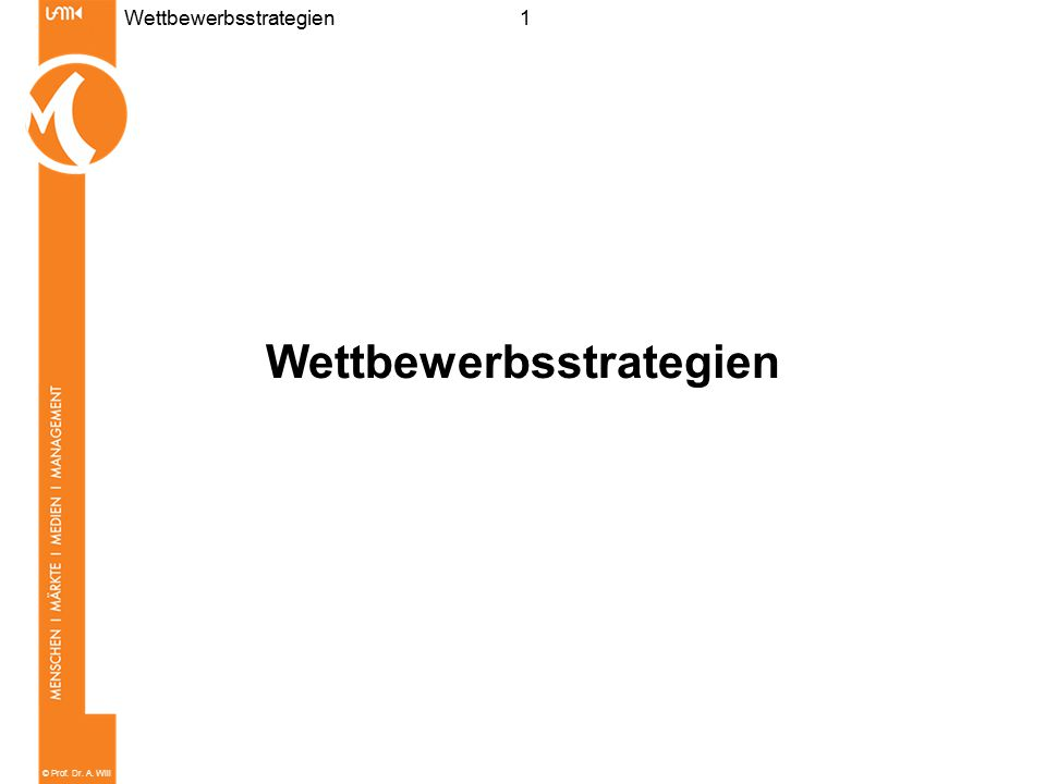 Wettbewerbsstrategien