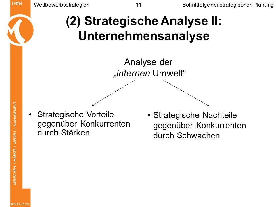 (2) Strategische Analyse II: Unternehmensanalyse