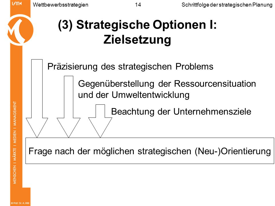 (3) Strategische Optionen I: