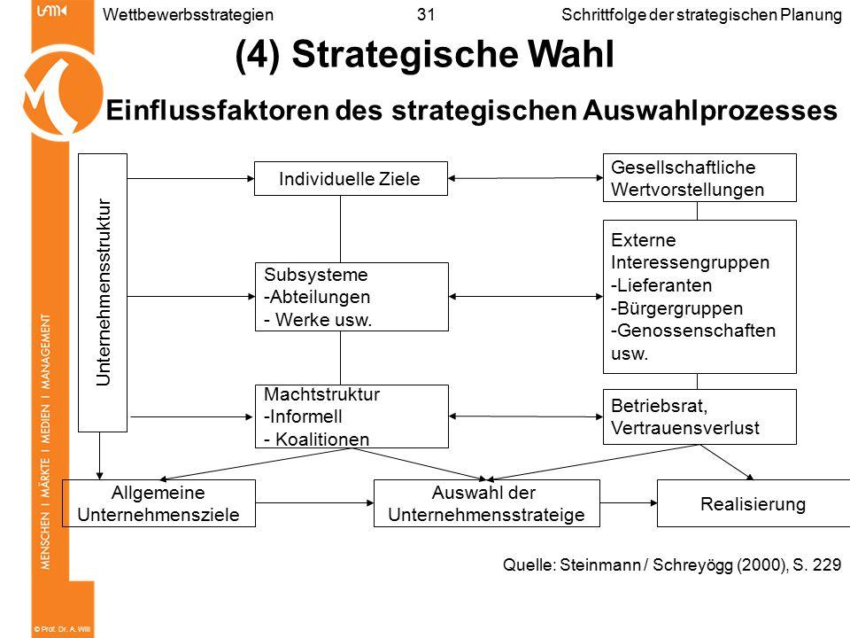 Einflussfaktoren des strategischen Auswahlprozesses