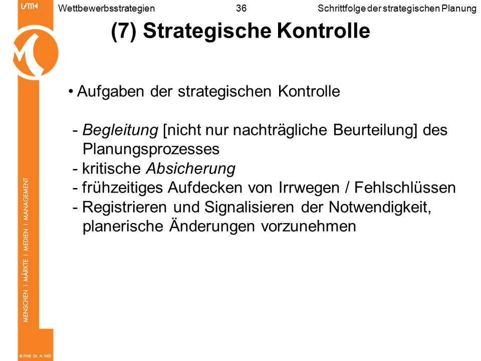 (7) Strategische Kontrolle